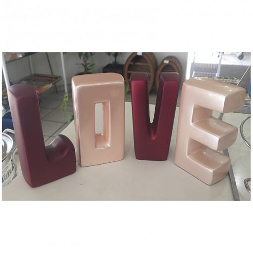 Palavra Love, Enfeite de Mesa, Joelma Decorações.