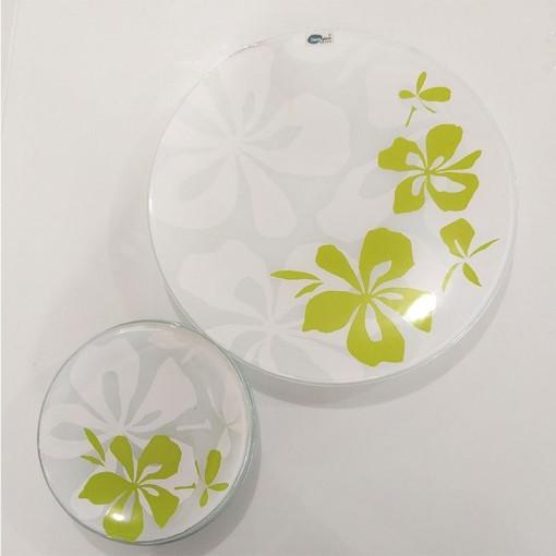 Conjunto 07 pçs Para Bolo Decor Glass.