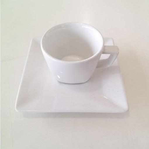 Xícara de Chá 200ml com Pires Quartier White, Oxford.